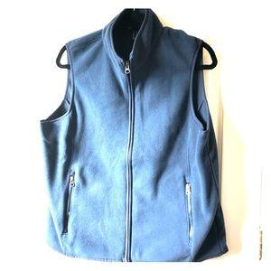 Men's Lands End fleece vest NWOT size M navy